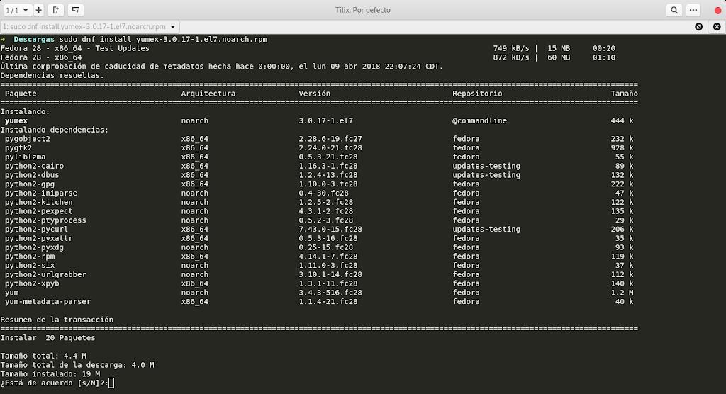 Instalar RPM con sus dependencias en Fedora