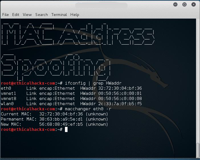 Cambiar aleatoriamente la MAC de la tarjeta de red | Fedora