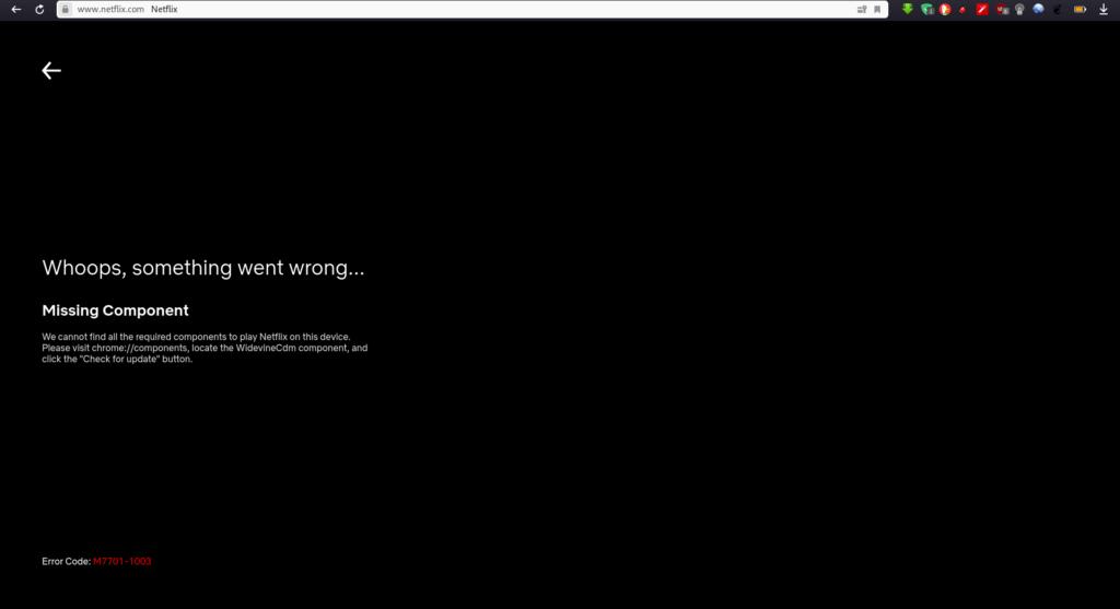 Error librería WidevineCdm en Yandex
