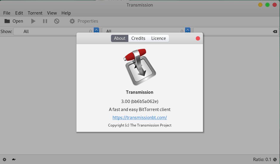 Transmission cliente torrent