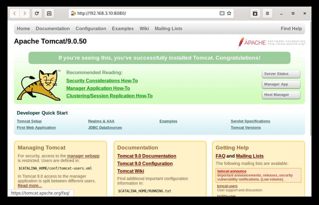 Acceso remoto a tomcat 9.0.50
