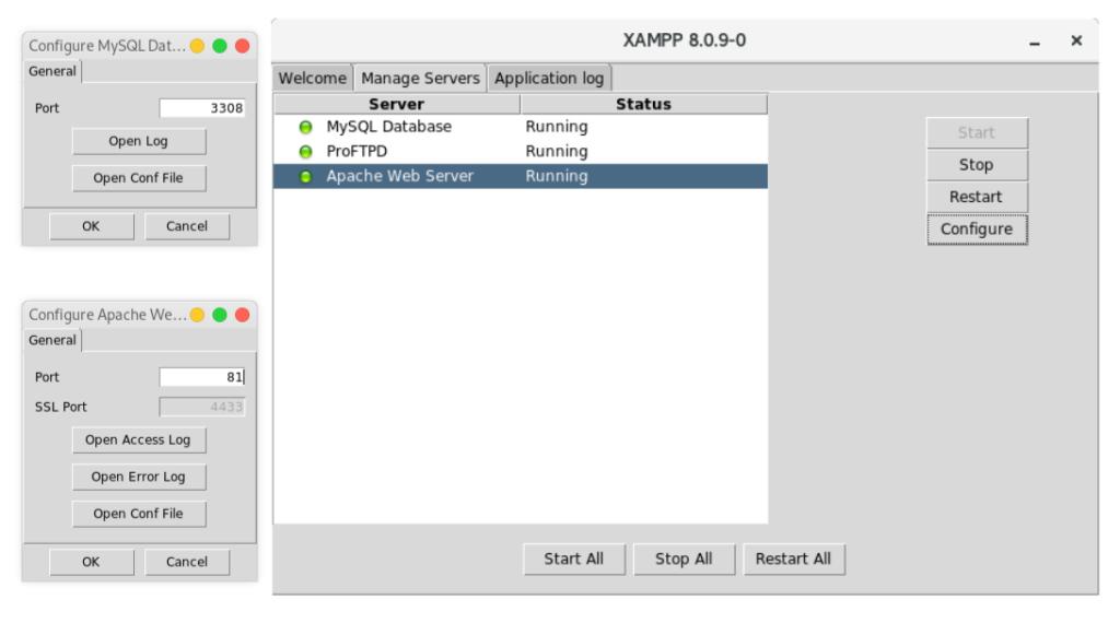 Configurar XAMPP 8.0.x en diferentes puertos 443, 80, 21
